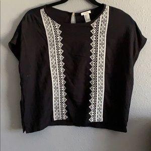 F21 black pattern shirt